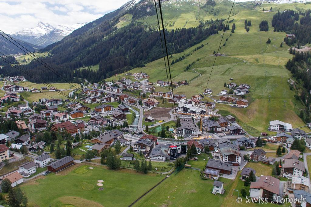 Mit der Rüfikopf Bahn von Lech auf den Rüfikopf