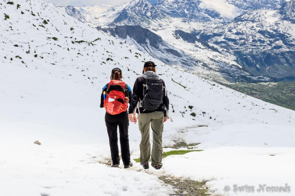 Schneewandern auf dem Rüfikopf bei Lech