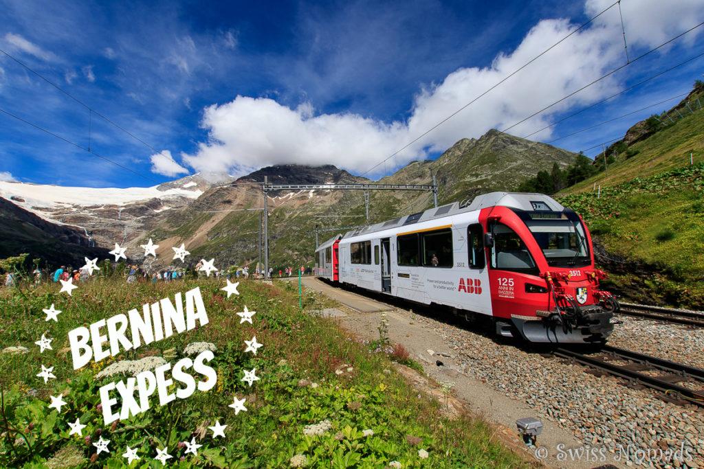 Bernina Express mit Bus und Zug unterwegs