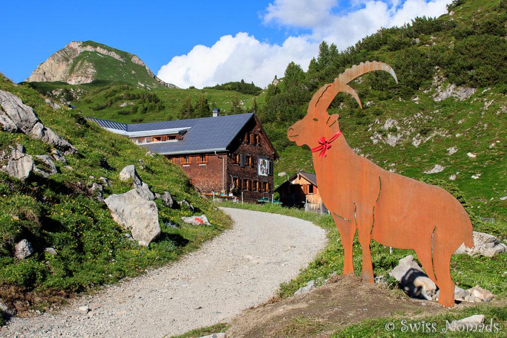 Freiburger Hütte Ziel des Stebok-Wäg