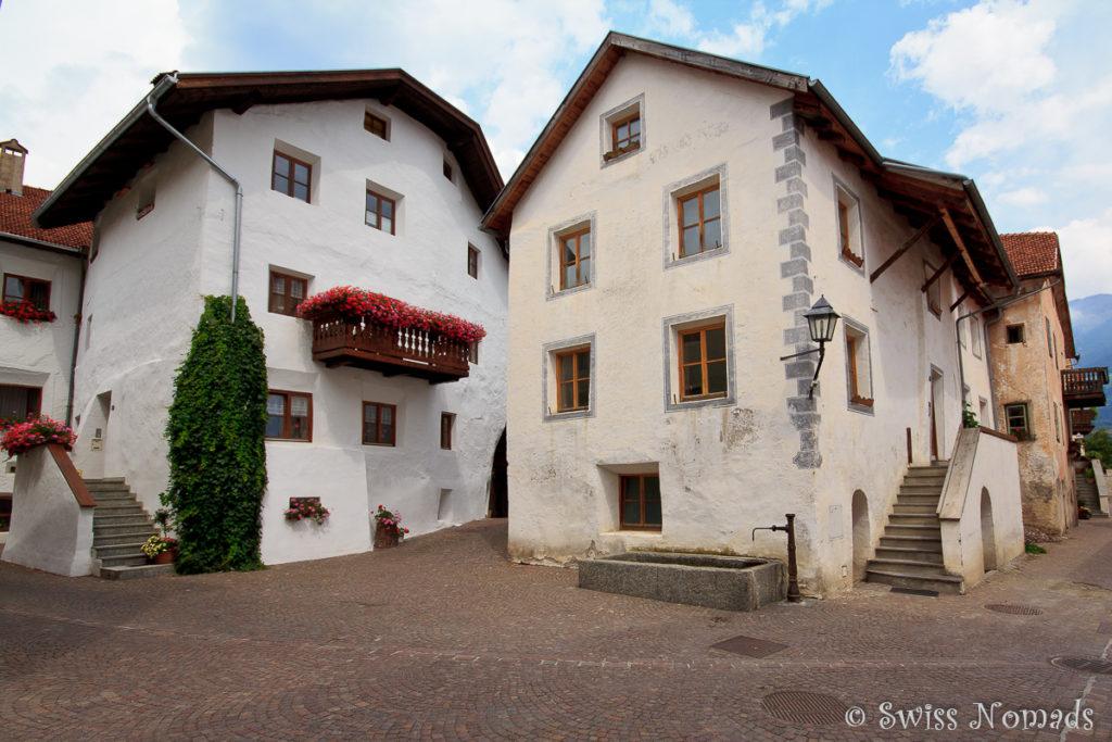 Die mittelalterliche Stadt Glurns im Vinschgau in Südtirol