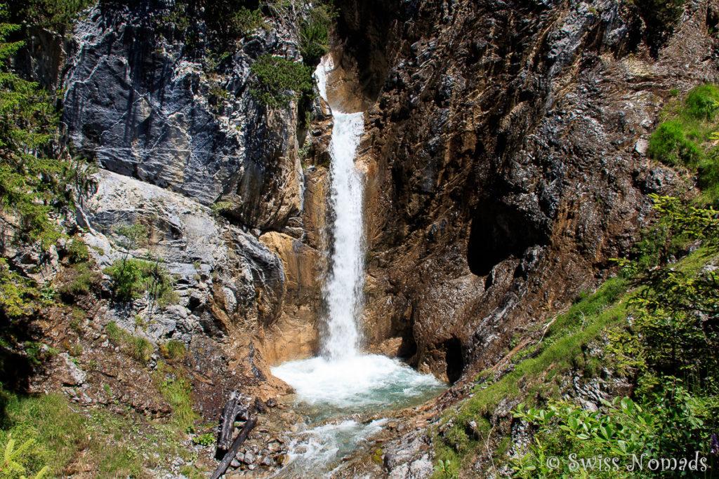 Schmittenbach Wasserfall im Vorarlberg