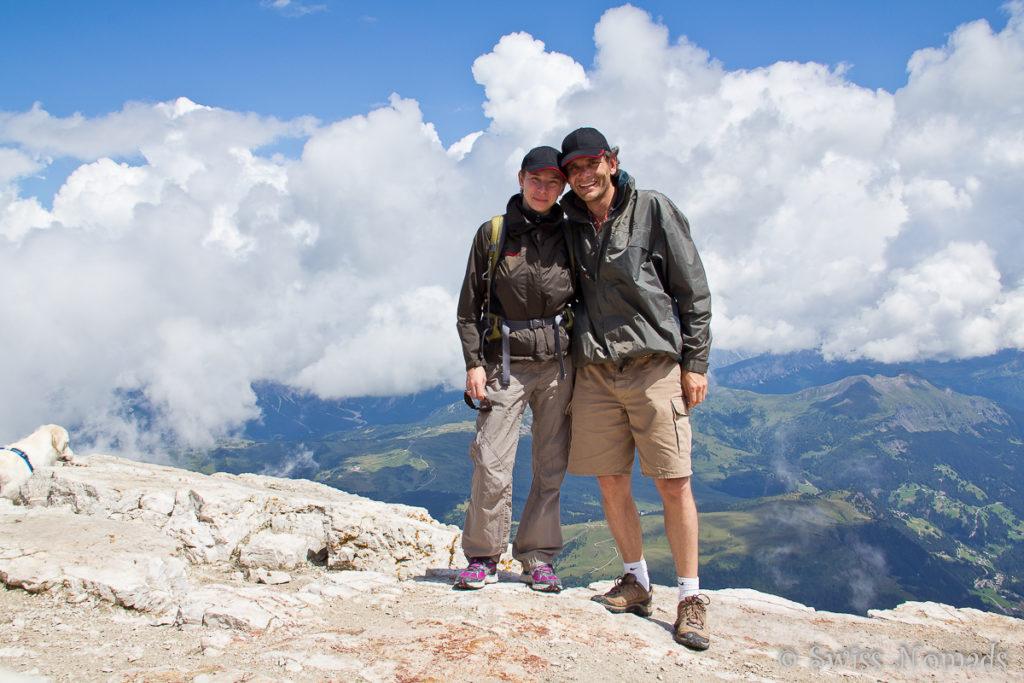 Auf der Wanderung zum Piz Boe in den Dolomiten