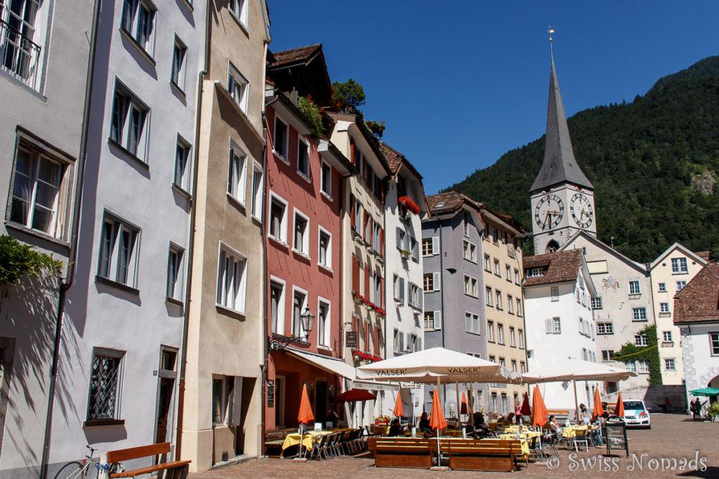 Die Altstadt von Chur lädt zum Bummeln ein