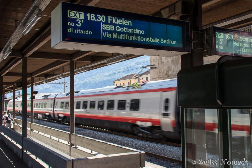 Bereit für die Sonderfahrt mit dem Gottardino durch den neuen Gotthard Basistunnel