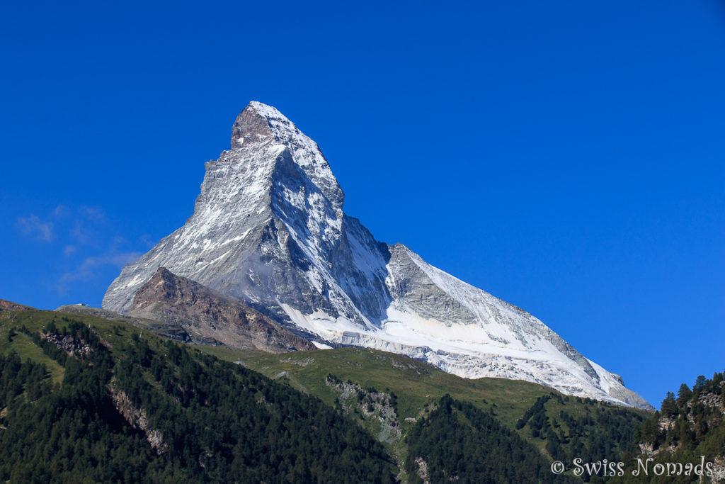 Wundervolle Aussicht auf das Matterhorn in Zermatt