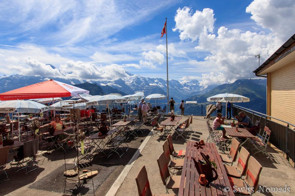 Das Bergrestaurant auf der Schynigen Platte bietet ein wunderschöne Aussicht