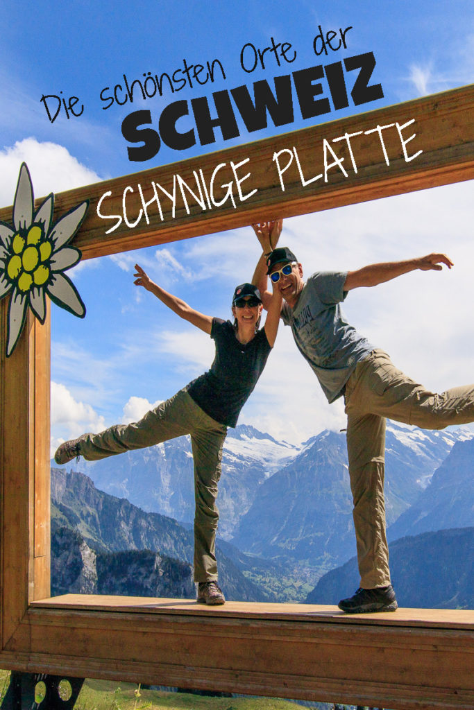 Bahnfahrt auf die Schynige Platte in der Schweiz