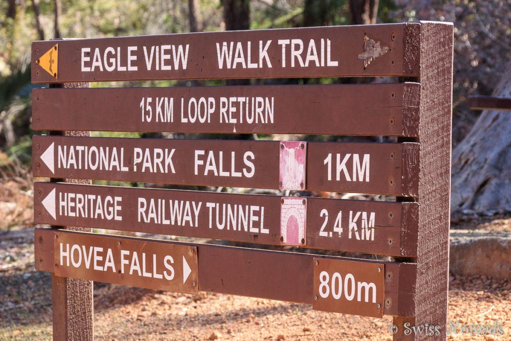 Wegweiser John Forrest Nationalpark