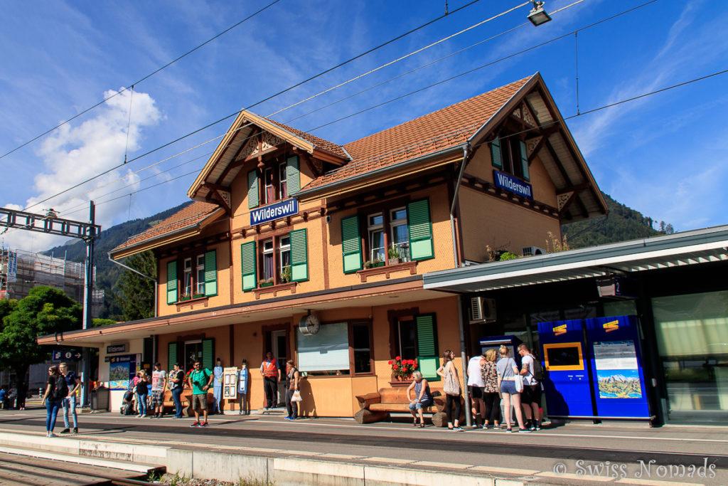 Der Bahnhof in Wilderswil ist der Ausgangspunkt für die Bahnfahrt auf die Schynige Platte
