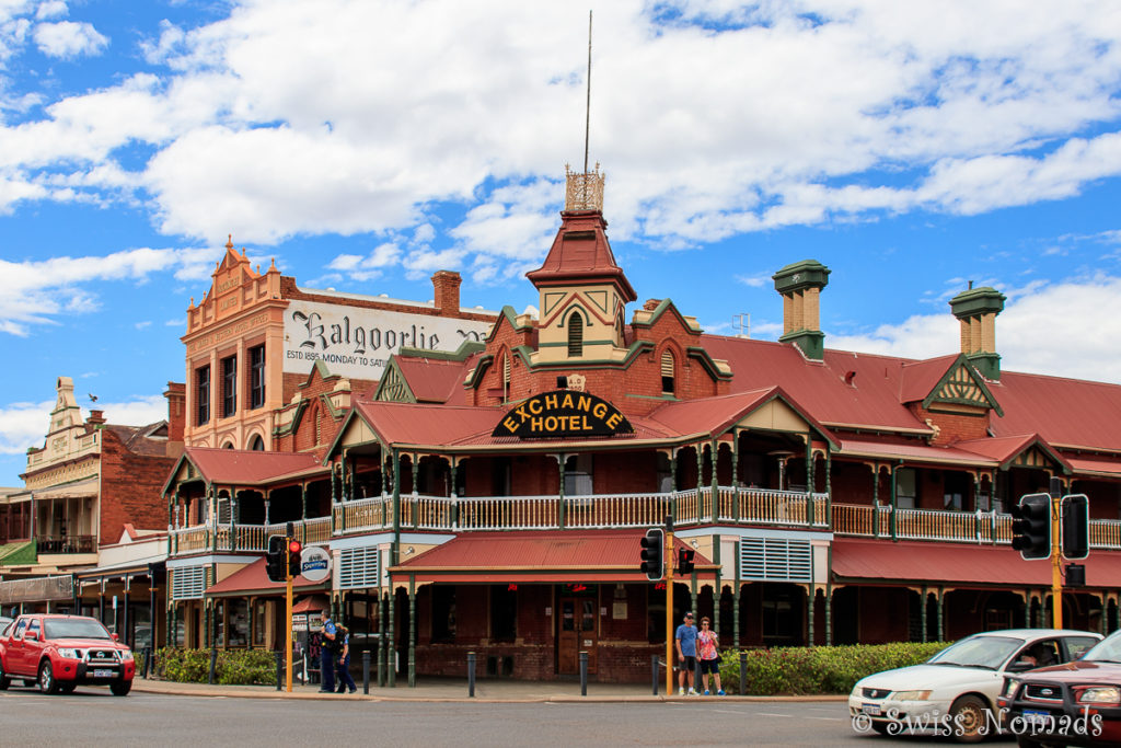 Von Perth nach Kalgoorlie Exchange Hotel