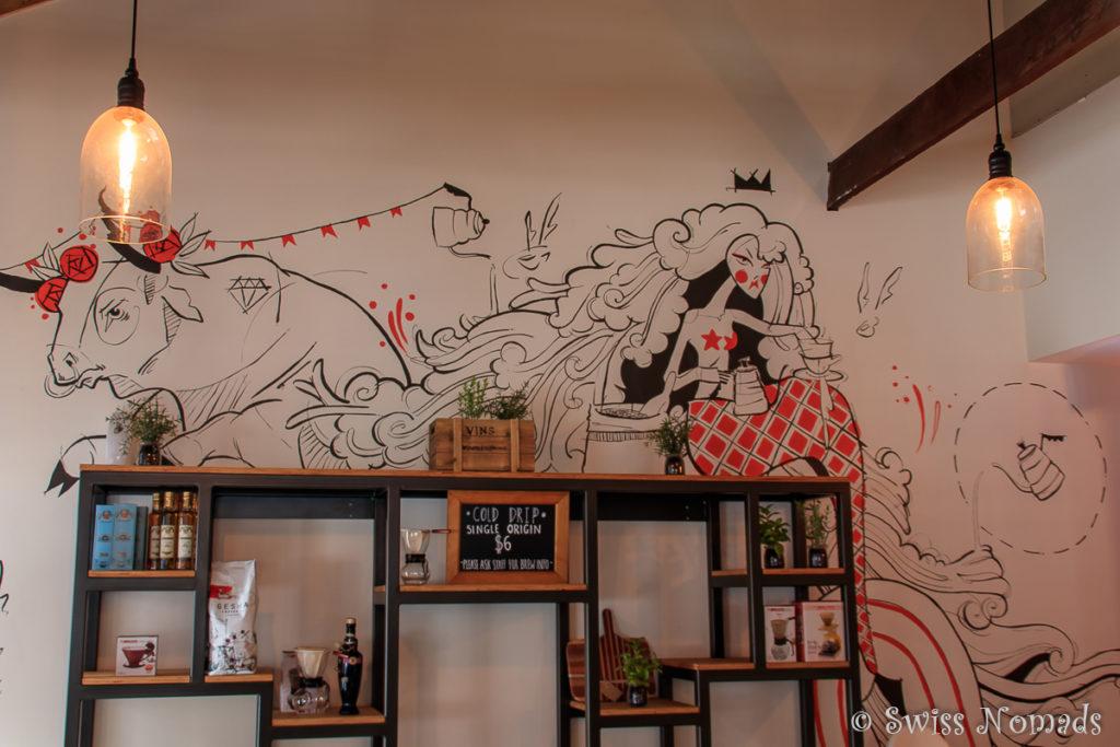 Das Gesha Café ist noch recht neu und vereint eine Kaffeerösterei und ein Café