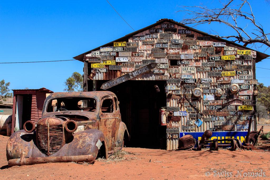 Die Autowerkstatt von Gwalia ist schon lange verlassen