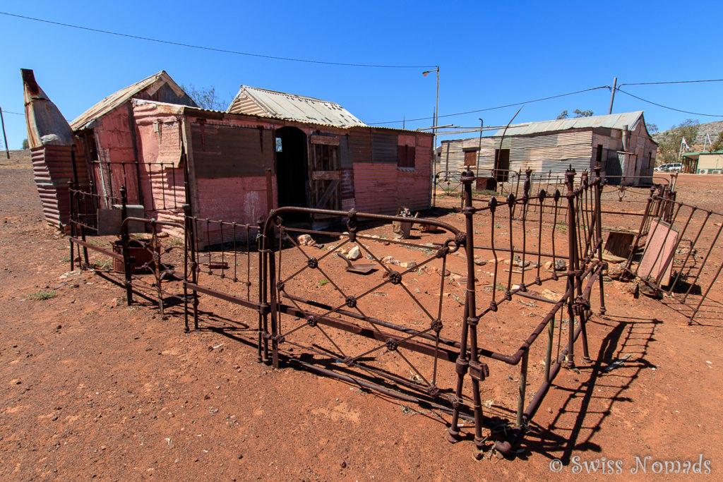 Die winzigen Arbeiterhütten der Geisterstadt Gwalia beeindrucken uns sehr