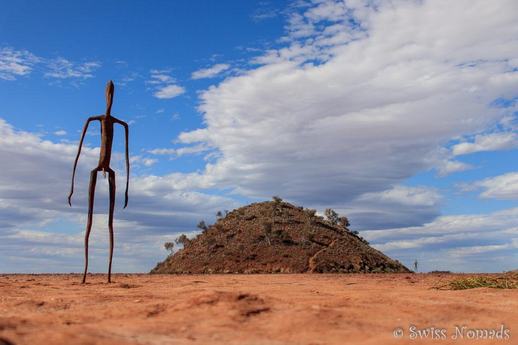 Die Skulpturen wurden von den Bewohnern von Menzies abgeleitet