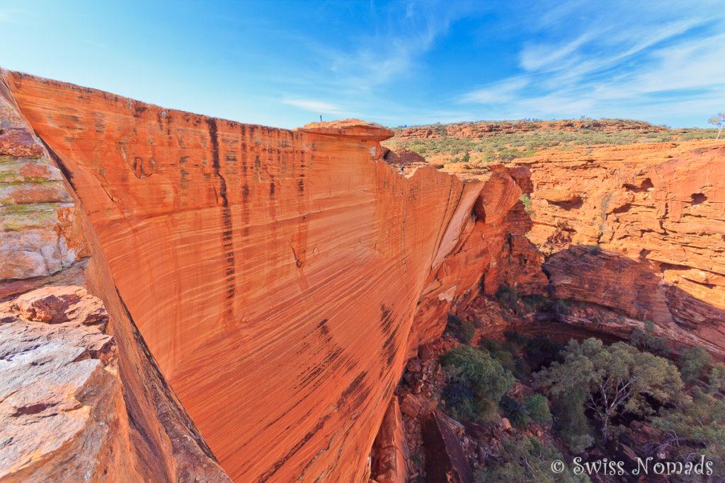 Die Abbruchkante beim Kings Canyon ist unglaublich steil und nicht gesichert