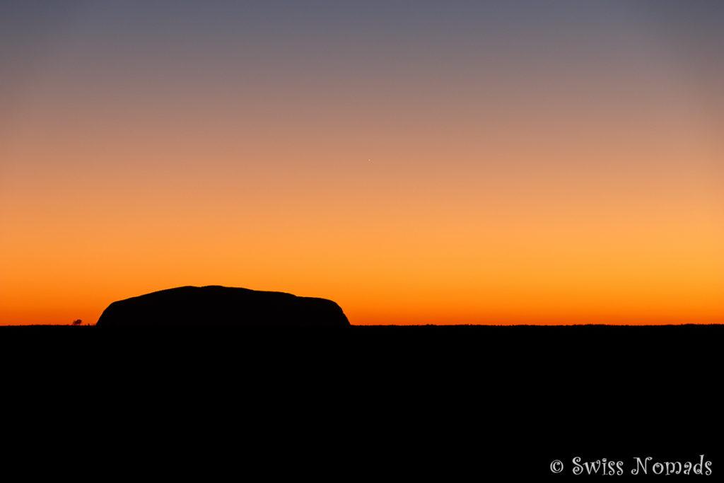Der Sonnenaufgang am Uluru (Ayers Rock) ist ein magisches Erlebnis