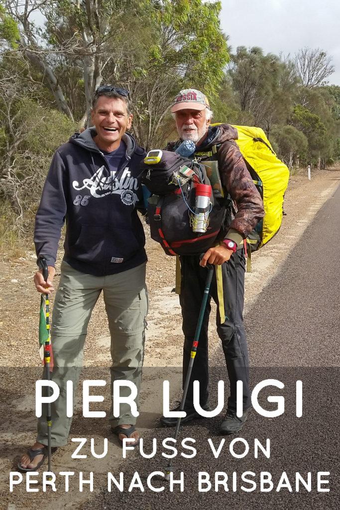 Pier Luigi zu Fuss von Perth nach Brisbane