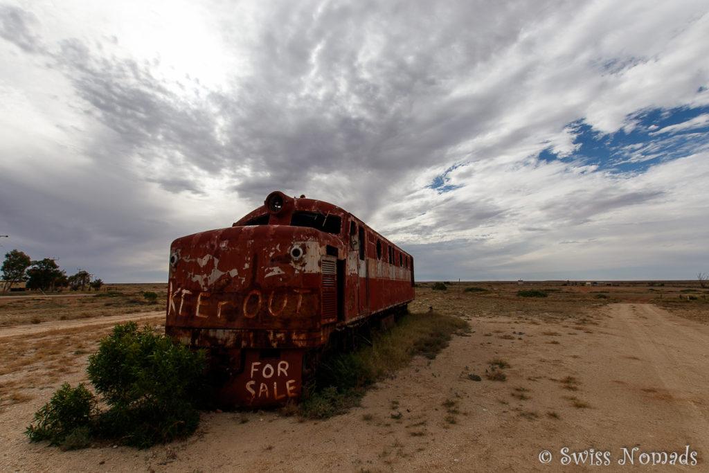 Lokomotive der stillgelegten Ghan Bahnlnie