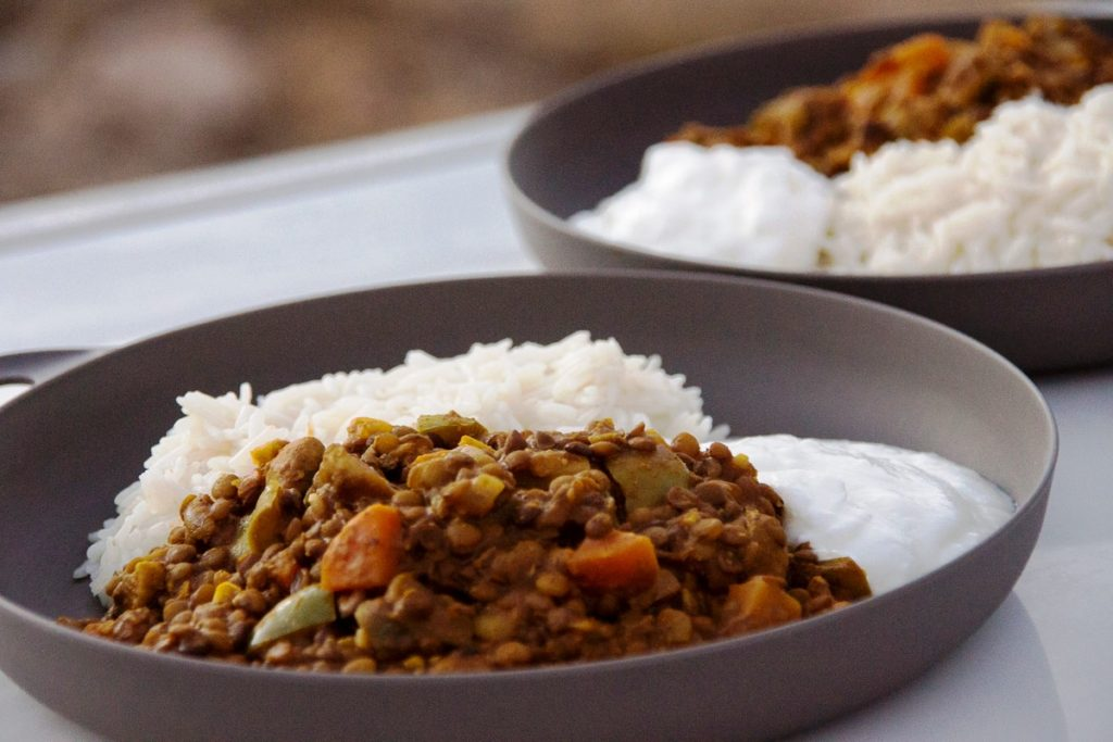 Camping Rezepte Linsencurry