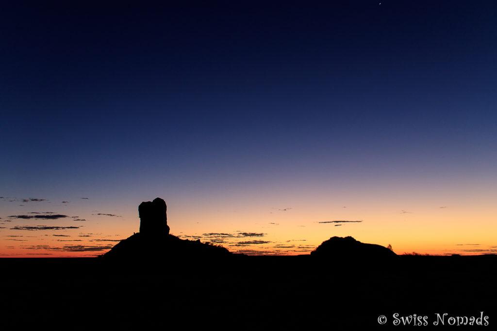 Der Sonnenuntergang beim Chambers Pillar