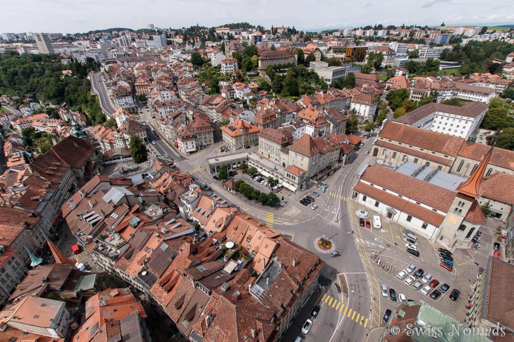 Altstadt Fribourg in der Schweiz