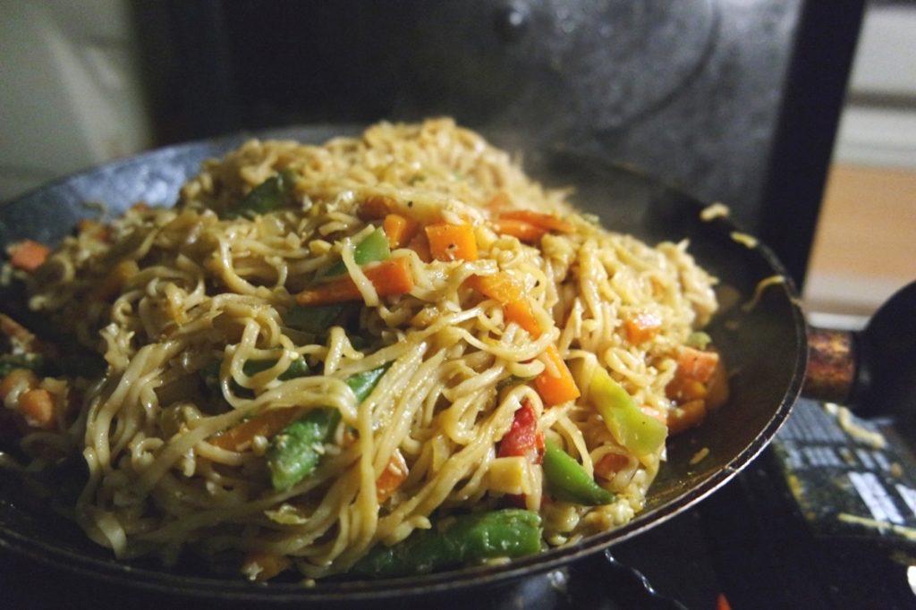 Camping Rezepte Fried Noodles
