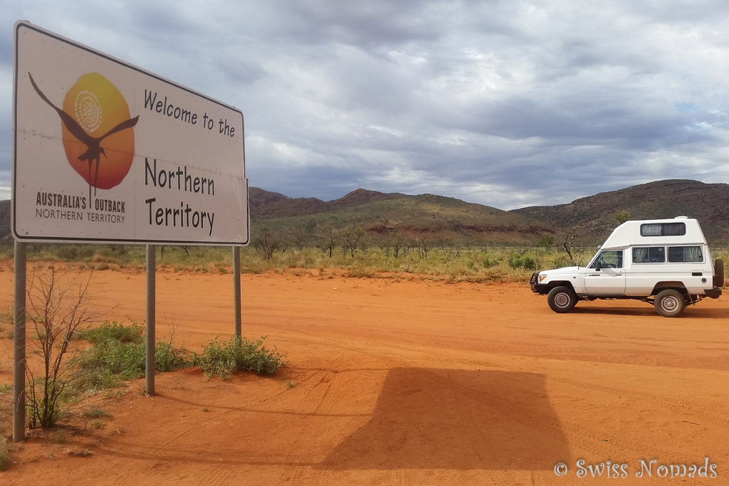 Die Grenze von Westaustralien zu Northern Territory