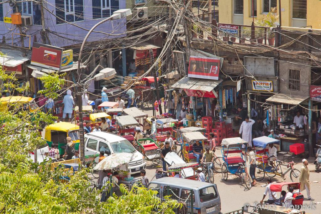 Der absolut verrückte Verkehr in Indiens Hauptstadt Delhi