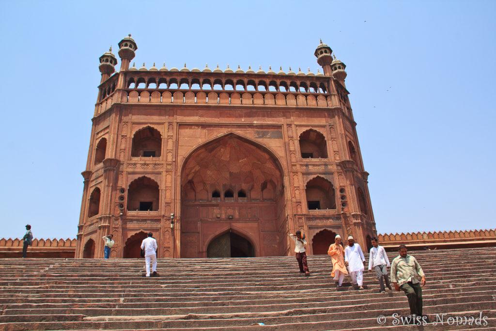 Die Jama Masjid ist die grösste Moschee in Delhi