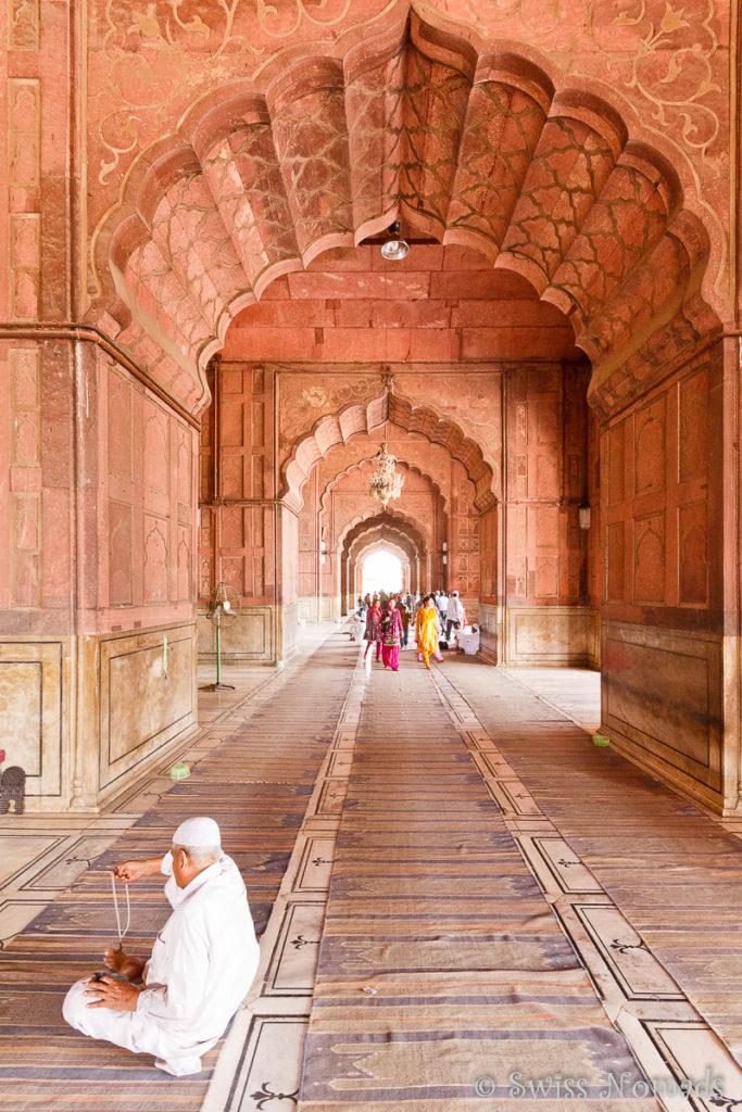Die Jama Masjid in Delhi ist sehr weitläufig