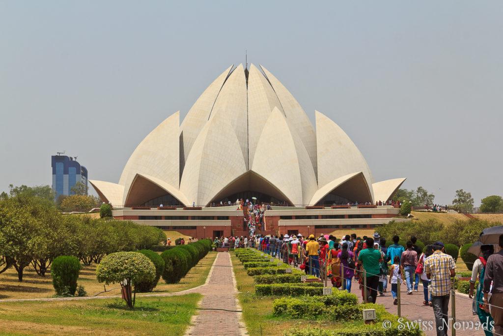 Der Lotus Tempel Delhi