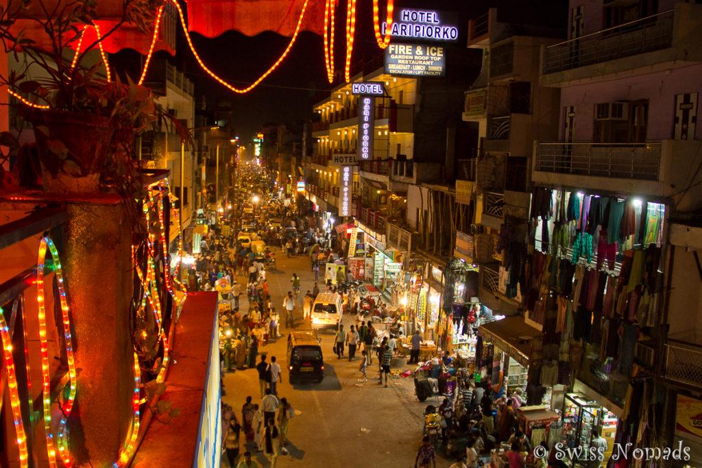 Aussicht auf die Main Bazaar Road