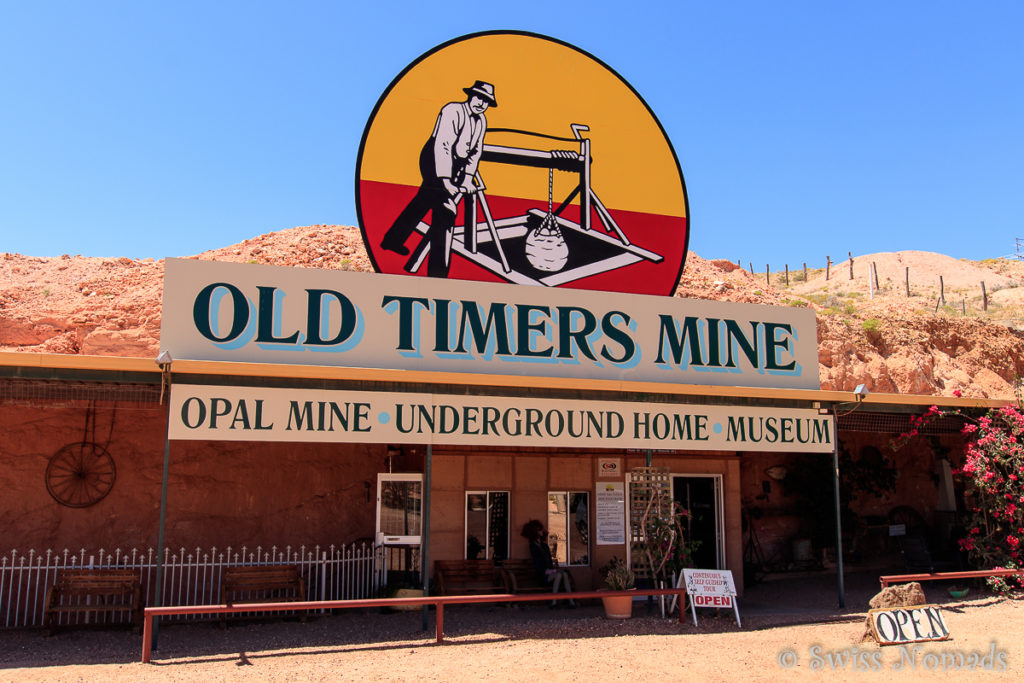 Eingang zur Old Timers Mine in Coober Pedy