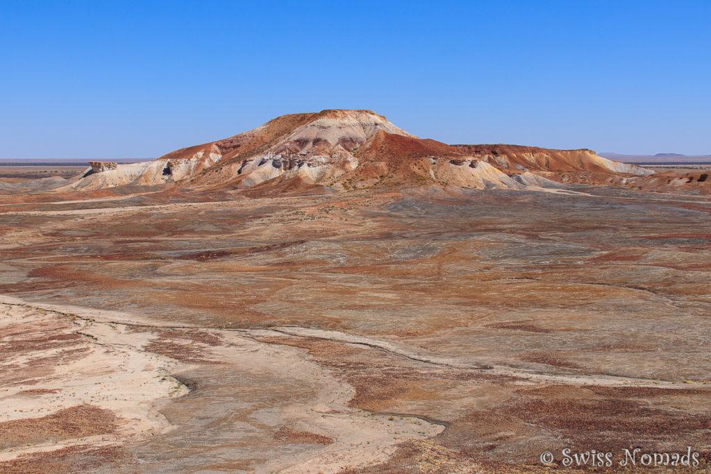 Die Painted Desert zwischen Oodnadatta und Coober Pedy