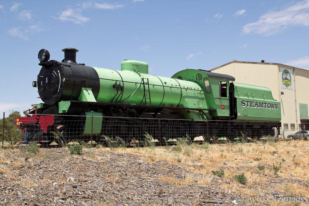 Das Steamtown Heritage Rail Museum in Peterboroug