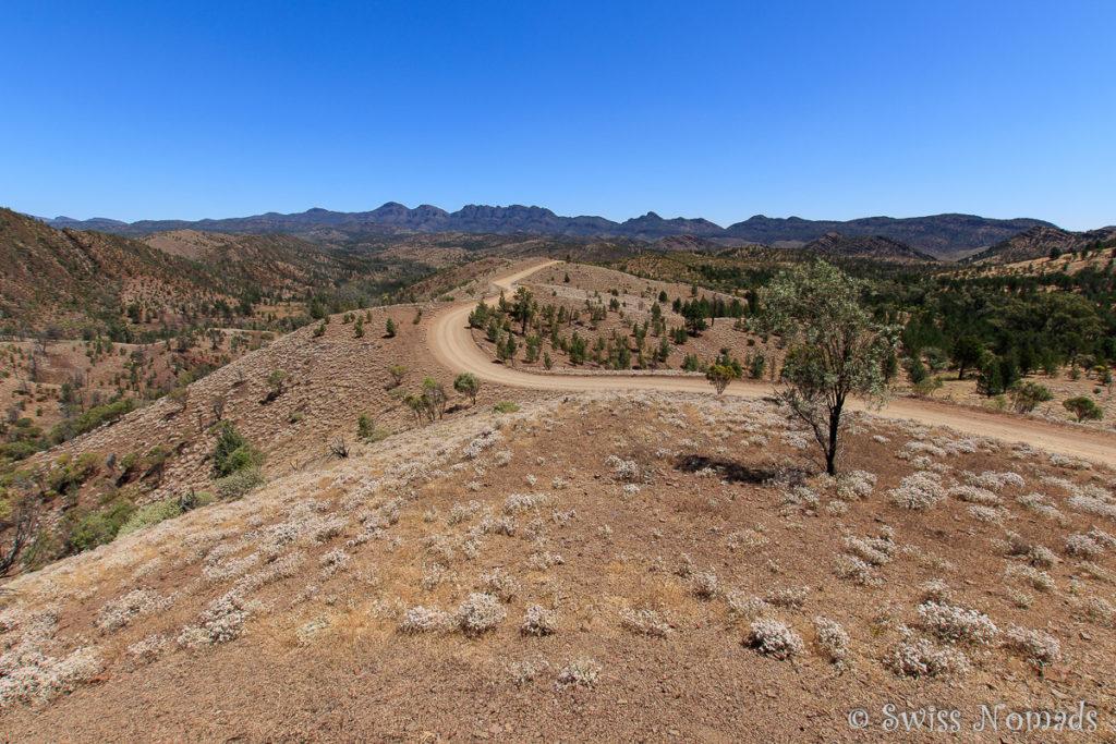 Die Aussicht vom Razorback Aussichtspunkt