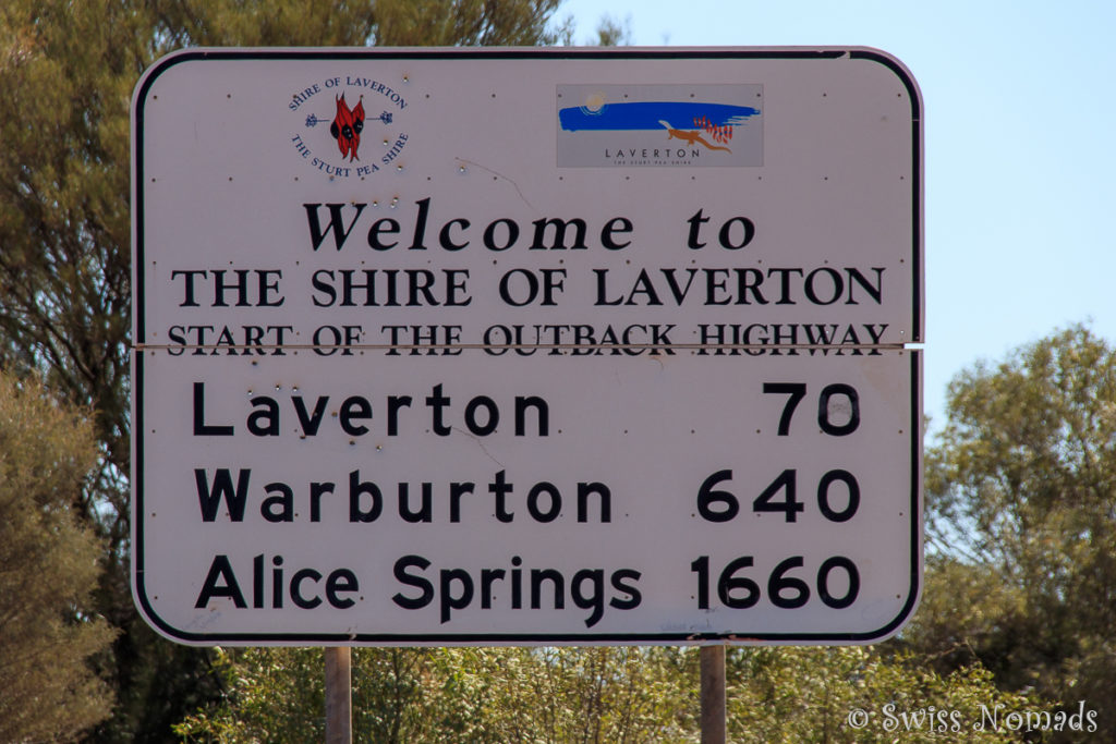 Strassenschild des Outback Ways
