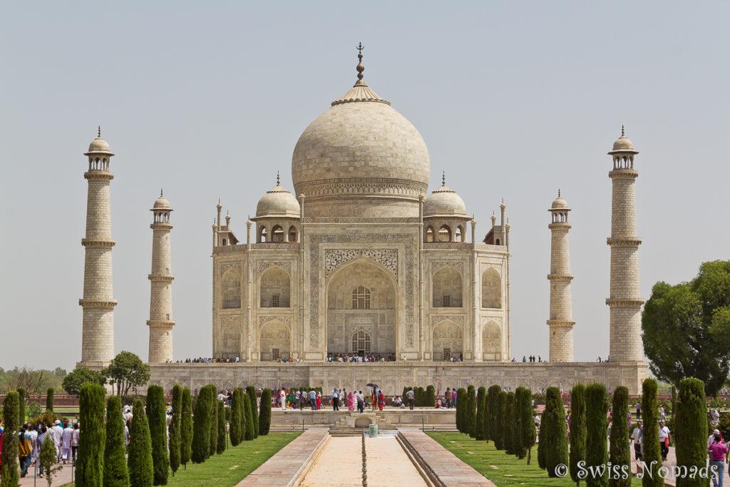 Der Besuch beim Taj Mahal in Agra ist unbeschreiblich