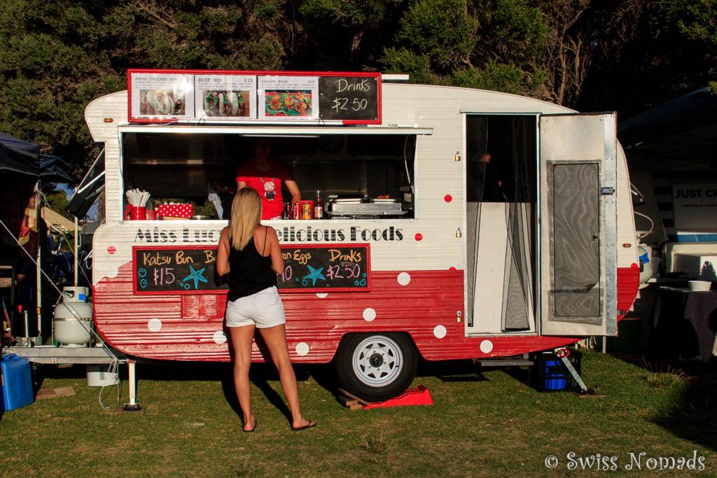 Essensstand an den South Beach Sunset Markets
