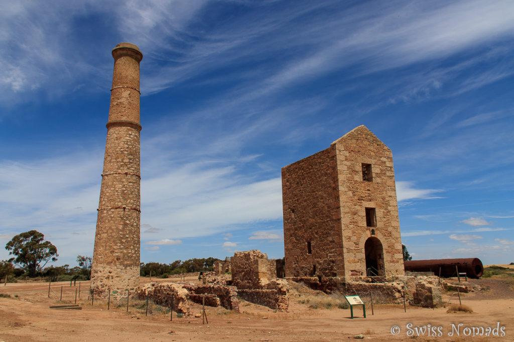 Die Ruinen der Moonta Goldmine