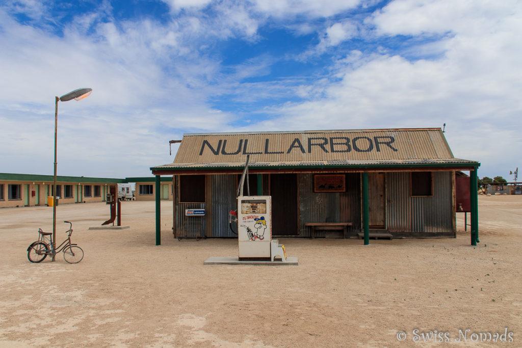 Das Nullarbor Roadhouse auf dem Roadtrip von Adelaide nach Perth