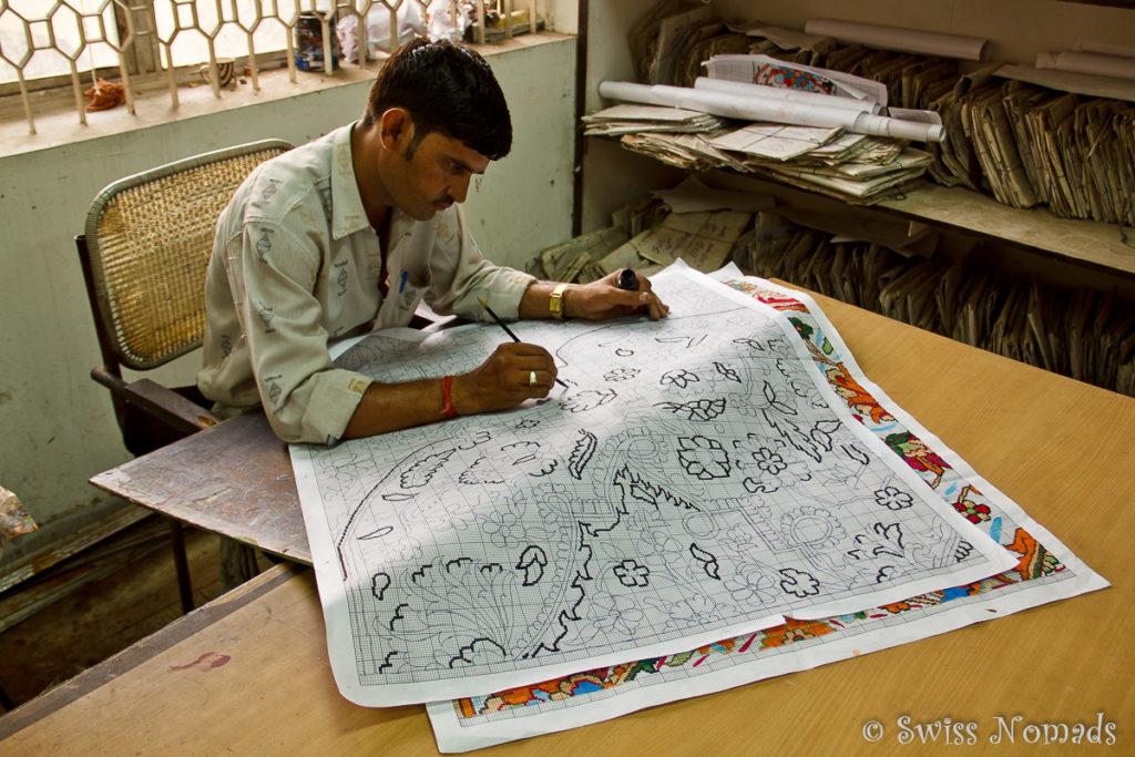 Teppichmuster als Vorlage für die Teppiche in Agra