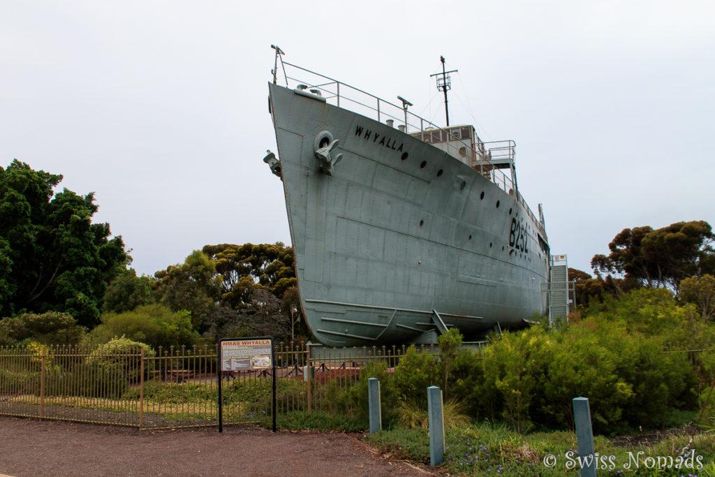 Das Kriegsschiff in Whyalla