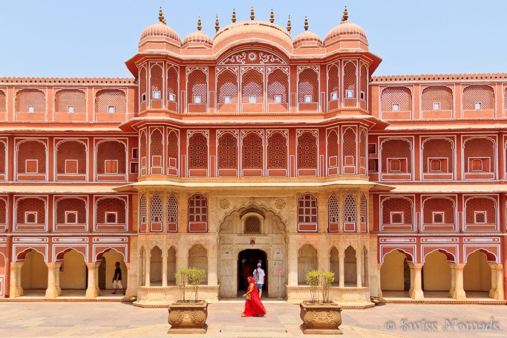 Das Chandra Mahal im City Palace von Jaipur
