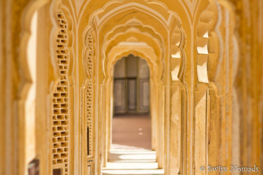 Das Hava Mahal ist verwinkelt und hat viele Zimmer und Gänge