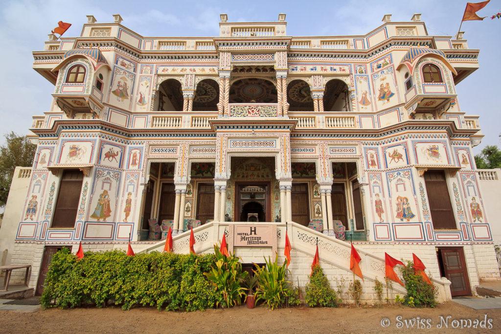 Das Hotel Heritage in Mandawa ist ein modern restauriertes Haveli