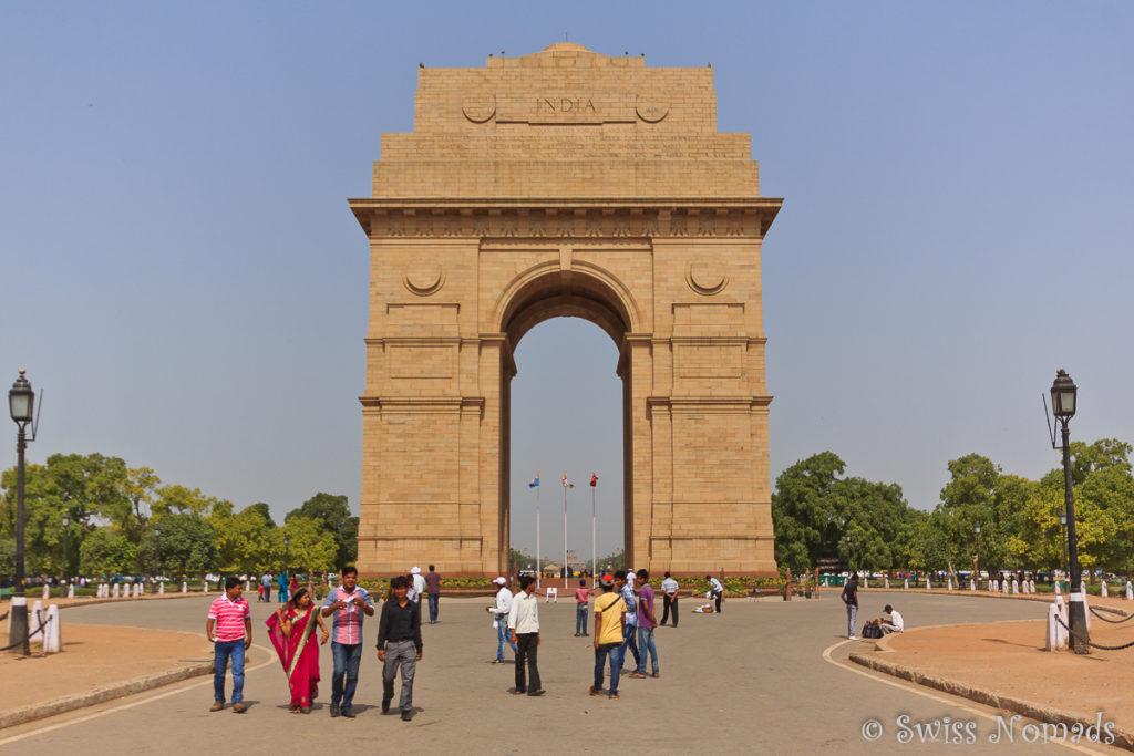 Das India Gate in Delhi erinnert an die gefallenen Soldaten