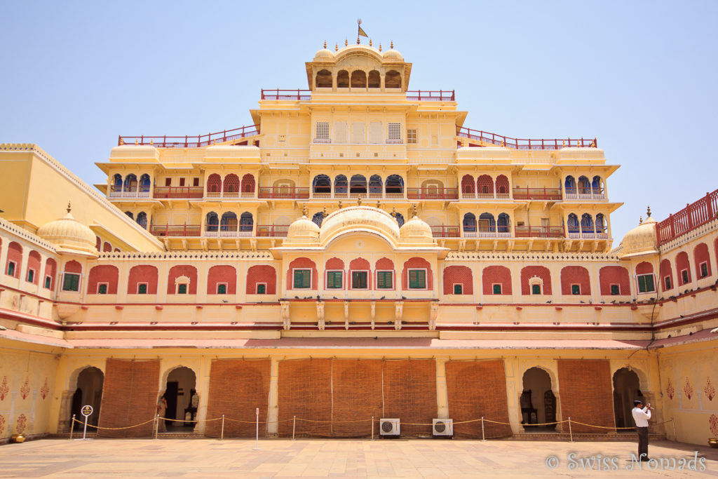Der Innenhof des Chandra Mahal im City Palace von Jaipur
