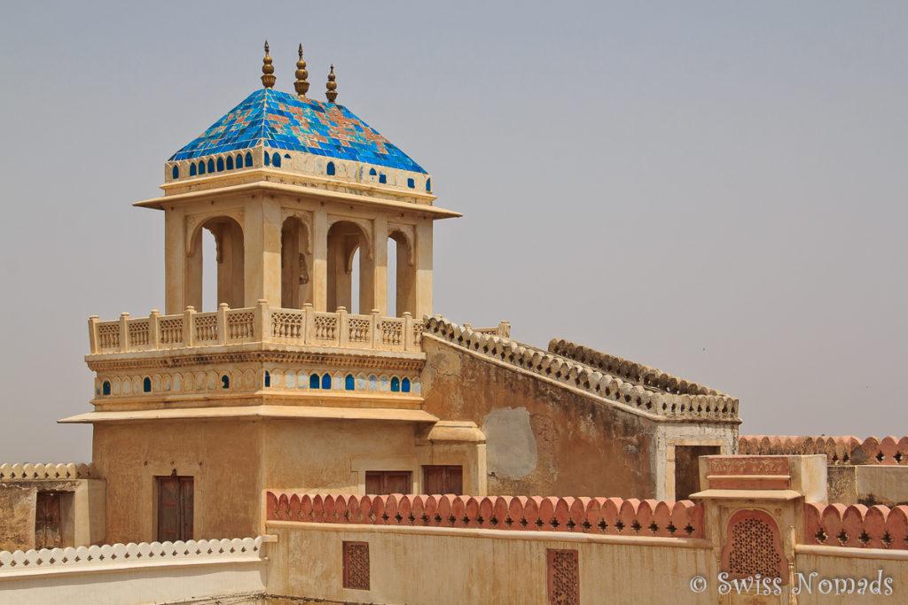Turm auf dem Dach des Junagarh Fort in Bikaner